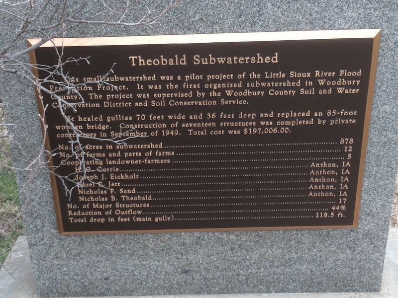 Theobald Subwatershed Marker image. Click for full size.