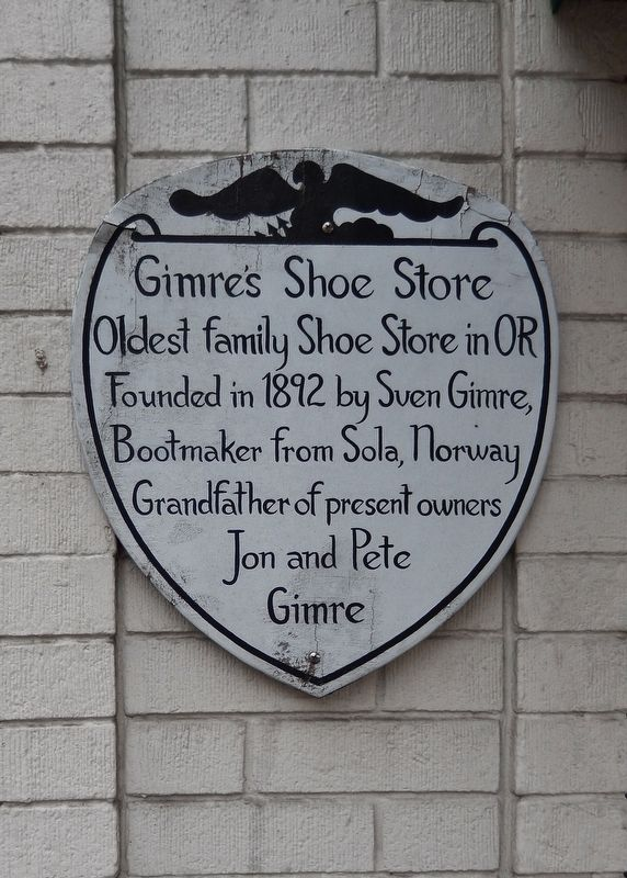 Gimre's Shoe Store Marker image. Click for full size.