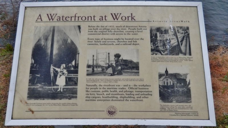 A Waterfront at Work Marker image. Click for full size.