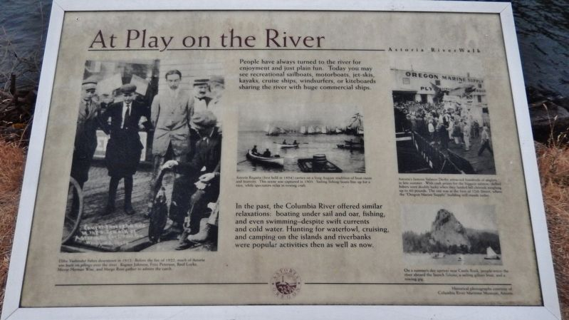 At Play on the River Marker image. Click for full size.