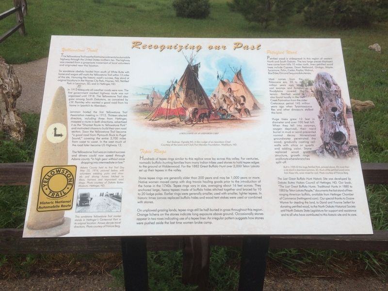 Recognizing our Past Marker image. Click for full size.