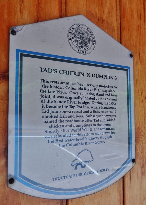 Tad's Chicken 'N Dumplin's Marker image. Click for full size.