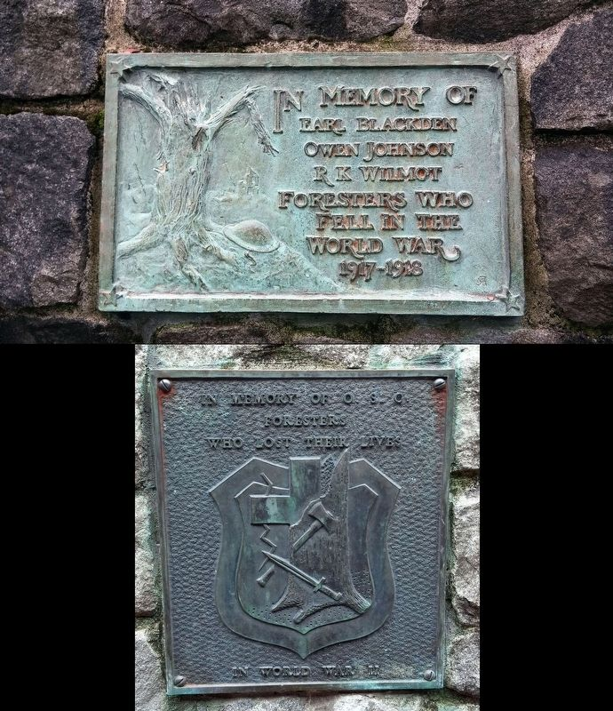 Dept. of Forestry War Memorial Marker image. Click for full size.