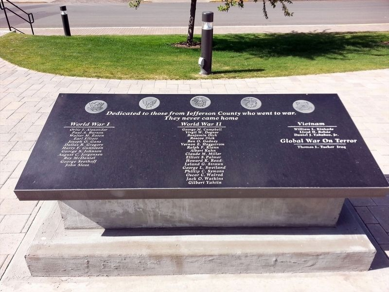 Jefferson County War Memorial Marker image. Click for full size.