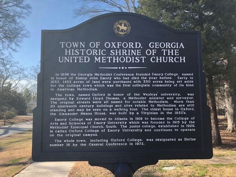 Town of Oxford, Georgia Historic Shrine of the United Methodist Church Marker image. Click for full size.