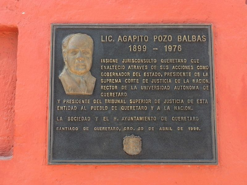 Agapito Pozo Balbas Marker image. Click for full size.