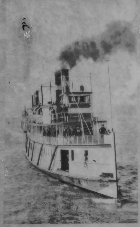 Marker detail: Steamboat image. Click for full size.