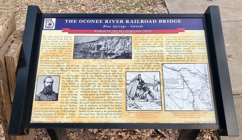 The Oconee River Railroad Bridge Marker image. Click for full size.