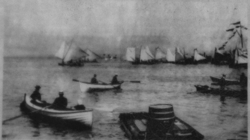 Marker detail: 1903 Astoria Regatta image. Click for full size.