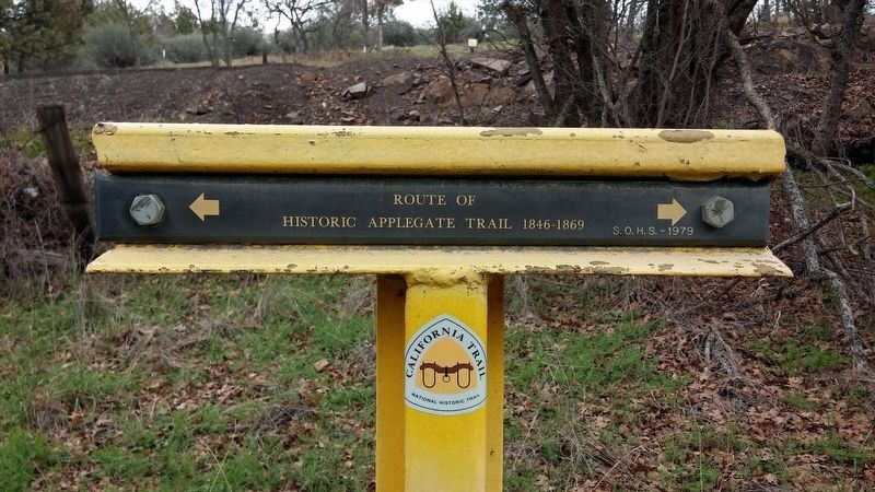 Route of Historic Applegate Trail Marker image. Click for full size.