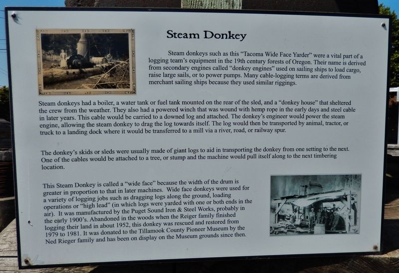 Steam Donkey Marker image. Click for full size.