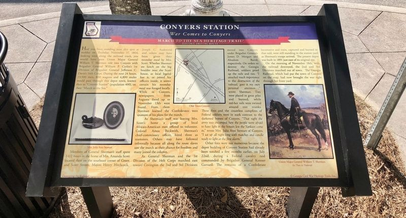 Conyers Station Marker image. Click for full size.