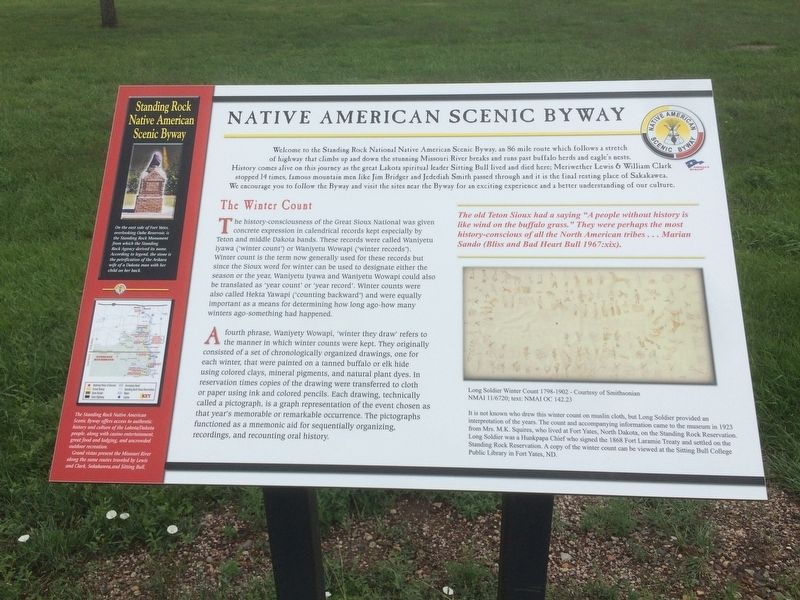 Native American Scenic Byway Marker image. Click for full size.