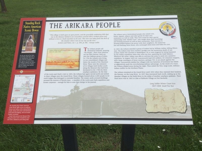 The Arikara People Marker image. Click for full size.