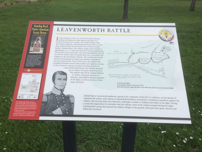Leavenworth Battle Marker image. Click for full size.