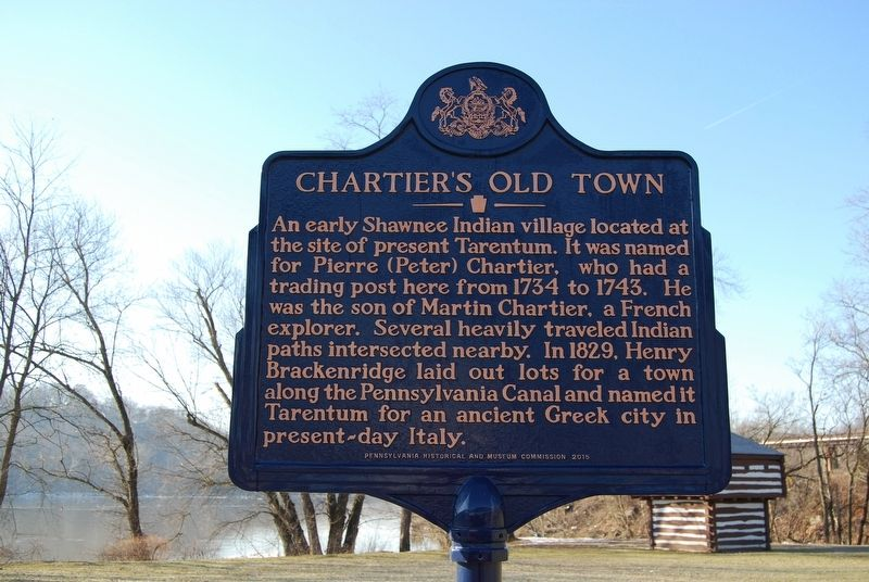 Chartier's Old Town Marker image. Click for full size.