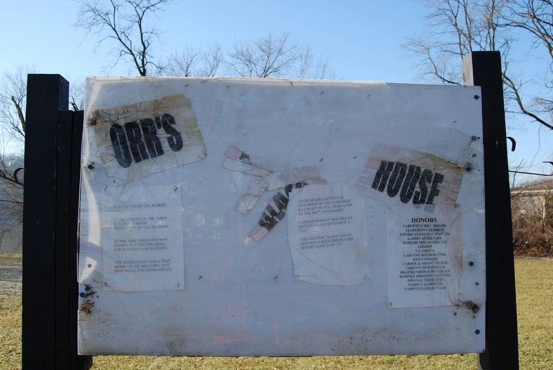 Orr's Block House Marker image. Click for full size.