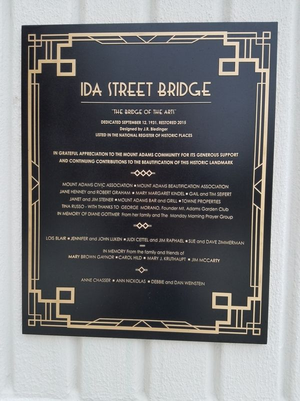 Ida Street Bridge Marker image. Click for full size.