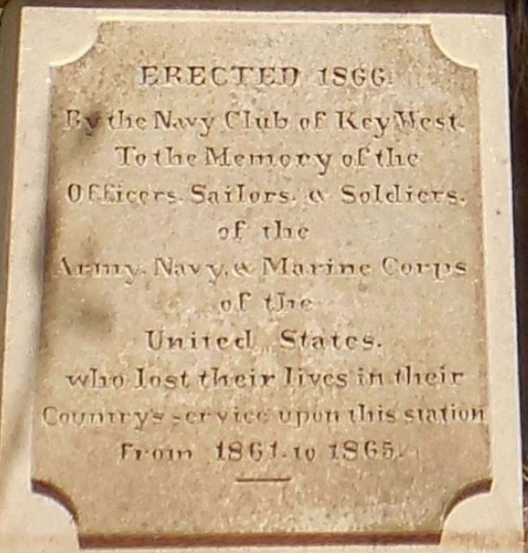Navy Club of Key West Monument Marker image. Click for full size.
