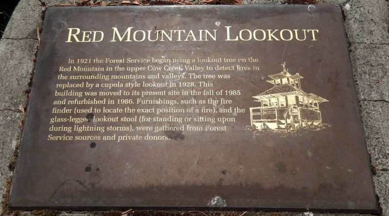 Red Mountain Lookout Marker image. Click for full size.