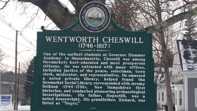 Wentworth Cheswill Marker image. Click for full size.
