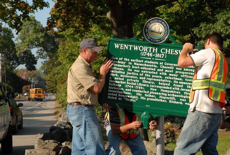 Wentworth Cheswill Marker Installation image. Click for full size.