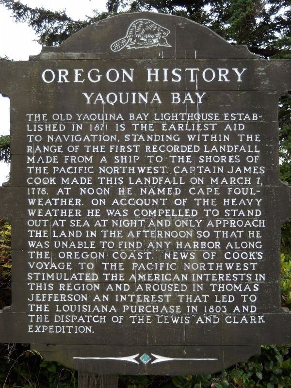 Yaquina Bay Marker image. Click for full size.