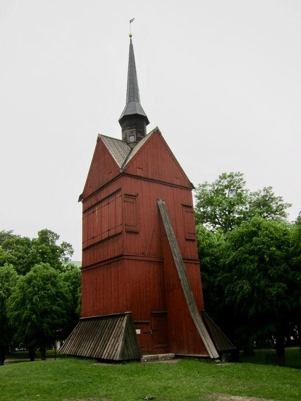 Johannes Klockstapel / John's Bell Tower and Marker - Wide View image. Click for full size.