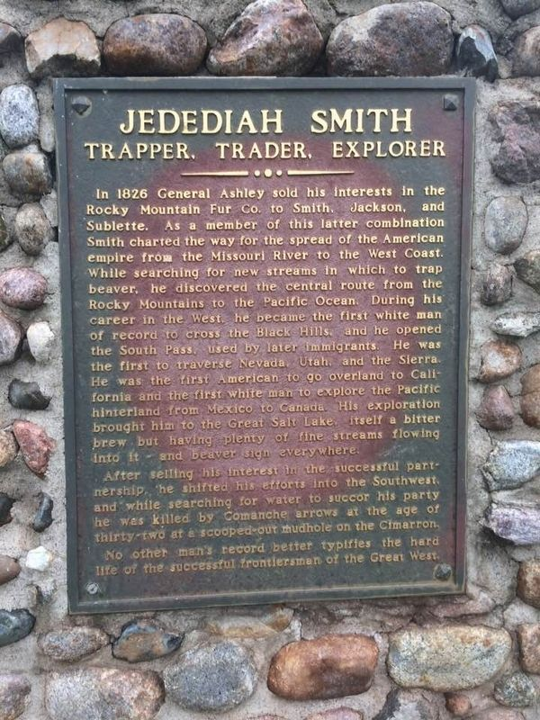 Jedediah Smith Marker image. Click for full size.