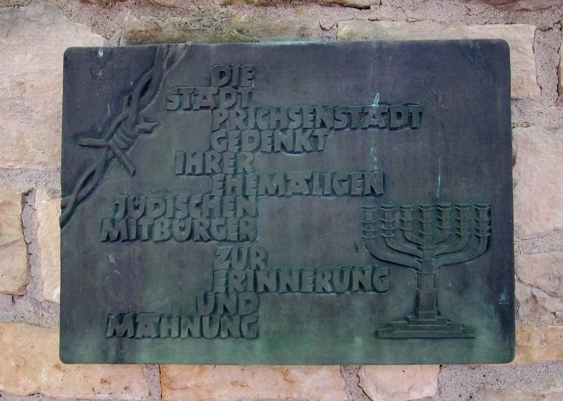 Jewish Commemoration Plaque image. Click for full size.