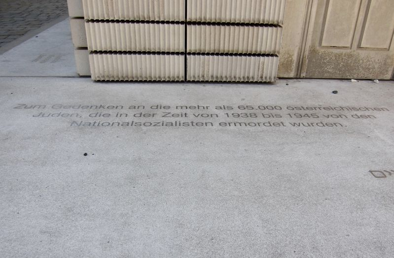Holocaust Memorial Marker - German text image. Click for full size.