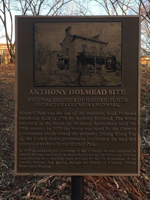 Anthony Holmead Site Marker image. Click for full size.