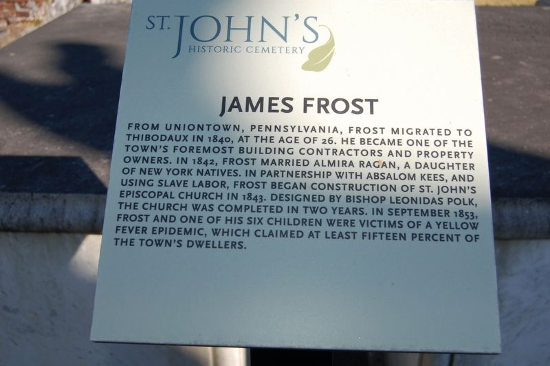 James Frost Marker image. Click for full size.