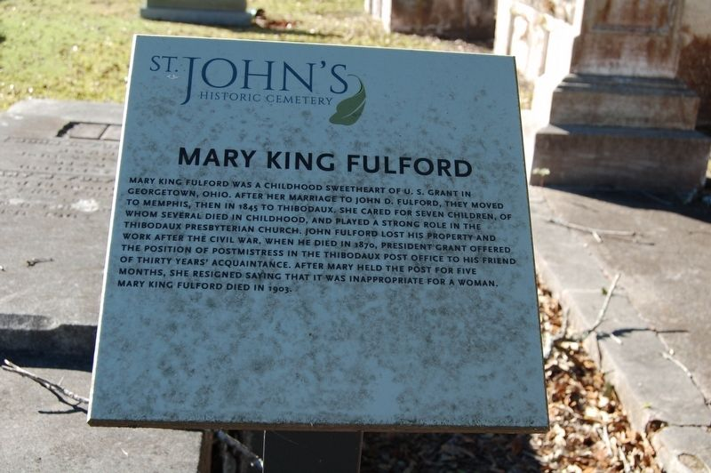 Mary King Fulford Marker image. Click for full size.