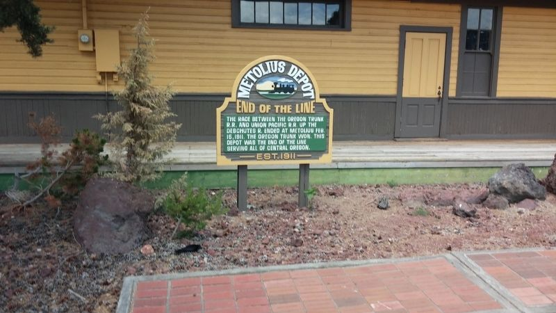 Metolius Depot Marker image. Click for full size.
