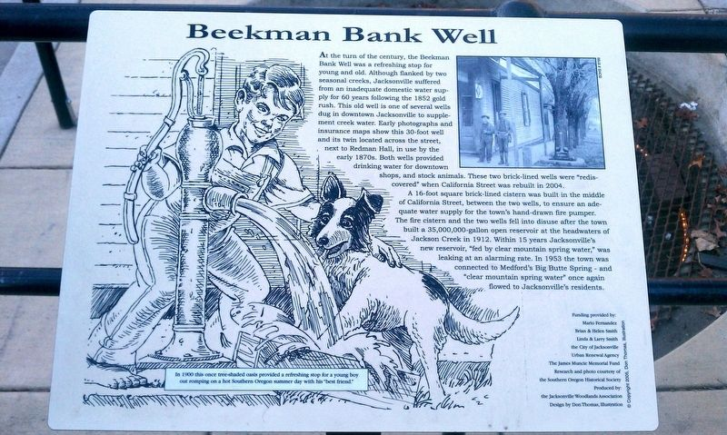 Beekman Bank Well Marker image. Click for full size.
