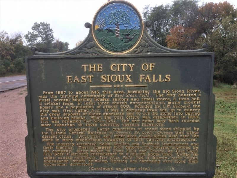 The City of East Sioux Falls Marker image. Click for full size.