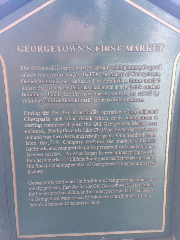 Georgetown's First Market Marker image. Click for full size.
