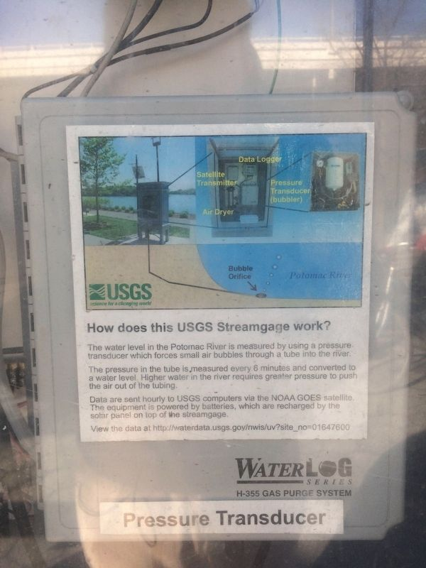 Signage on the USGS Streamgage image. Click for full size.