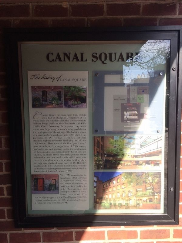 The History of Canal Square Marker image. Click for full size.