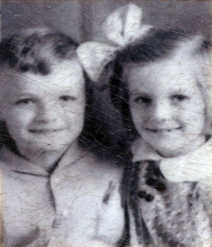 John Barth and his twin sister, Jill image. Click for full size.