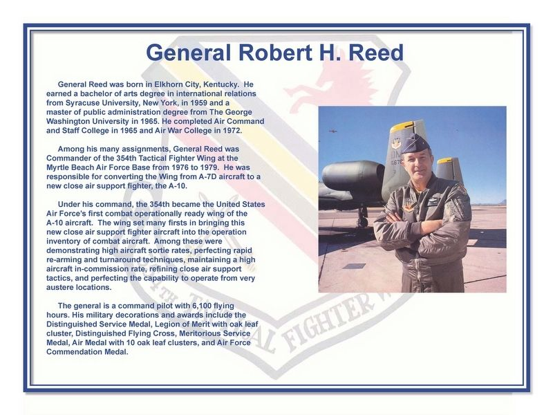 General Robert H. Reed Marker image. Click for full size.