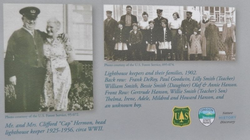 Marker detail: Lighthouse Keepers and Their Families <i>(click on photo to enlarge)</i> image. Click for full size.