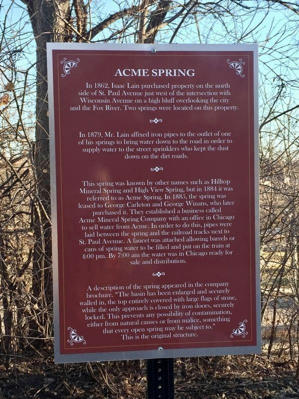 Acme Spring Marker image. Click for full size.