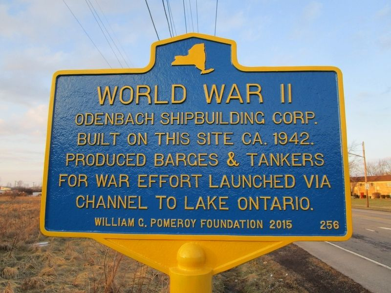 World War II Odenbach Shipbuilding Marker image. Click for full size.