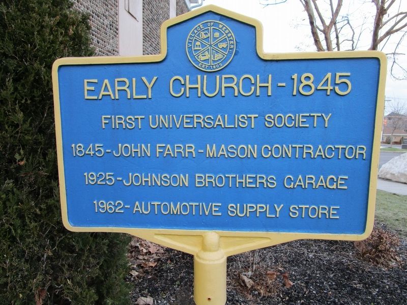 Early Church - 1845 Marker image. Click for full size.