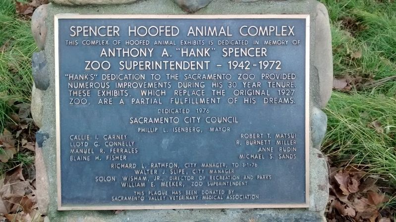 Spencer Hoofed Animal Complex Marker image. Click for full size.