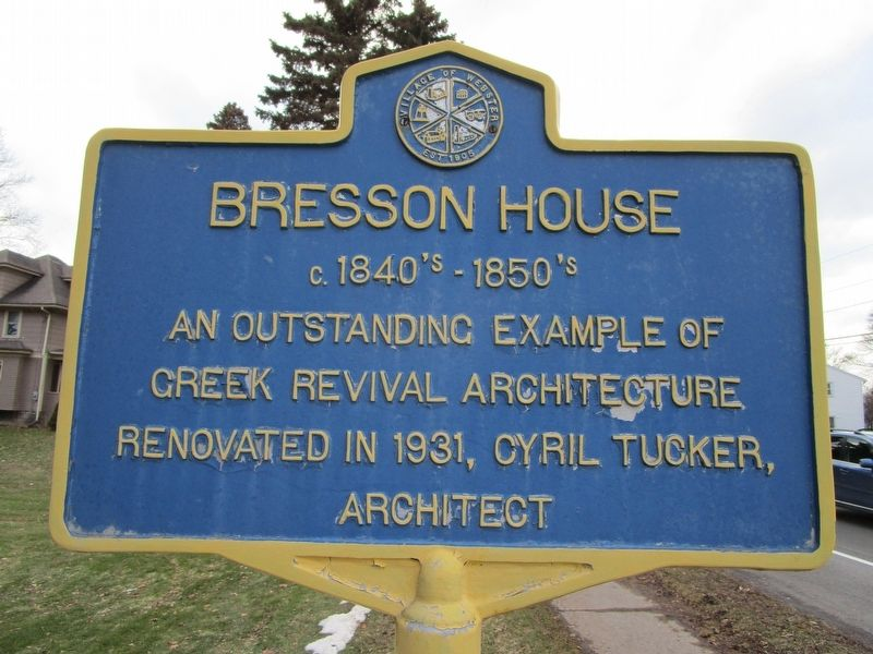 Bresson House Marker image. Click for full size.
