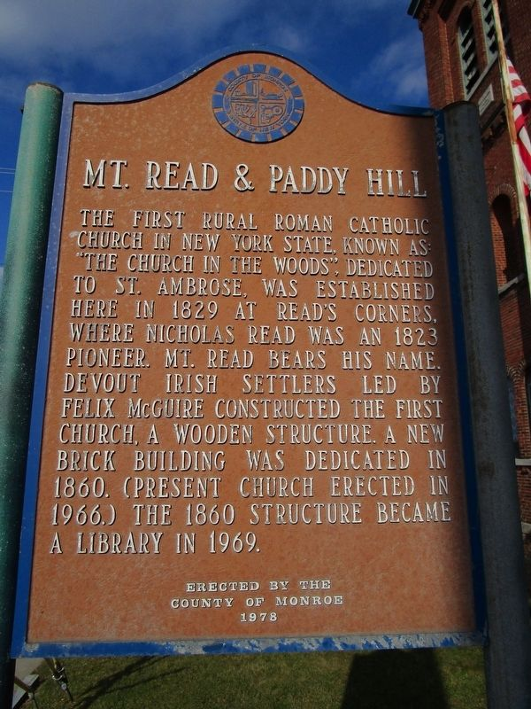 Mt. Read & Paddy Hill Marker image. Click for full size.