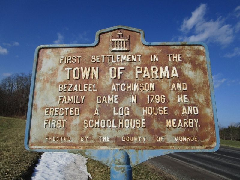 First Settlement in the Town of Parma Marker image. Click for full size.